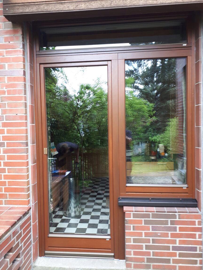 holz-balkontür mit schall- und einbruchschutz nach einbruchschaden